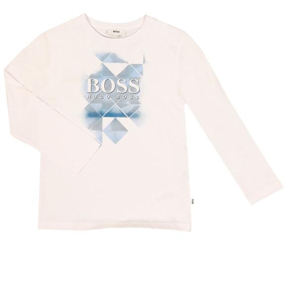 Boss Boys White J25B21 T Shirt main image