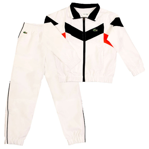 Lacoste Sport Boys White WJ8813 Track Suit main image