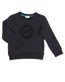Boss Boys Blue Big Logo Crew Neck Sweat