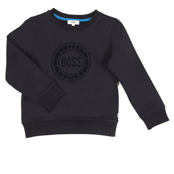BOSS Bodywear Boys Blue Big Logo Crew Neck Sweat main image