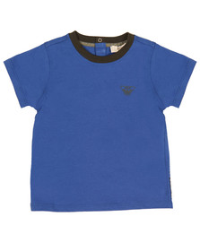 Armani Baby Boys Blue 6YHT01 Small Logo T Shirt
