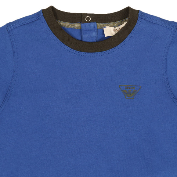 Armani Baby Boys Blue 6YHT01 Small Logo T Shirt main image