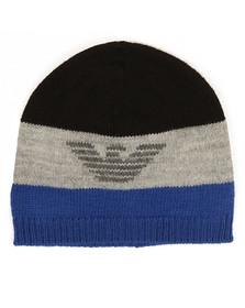 Armani Junior  Boys Black Knitted Logo Hat