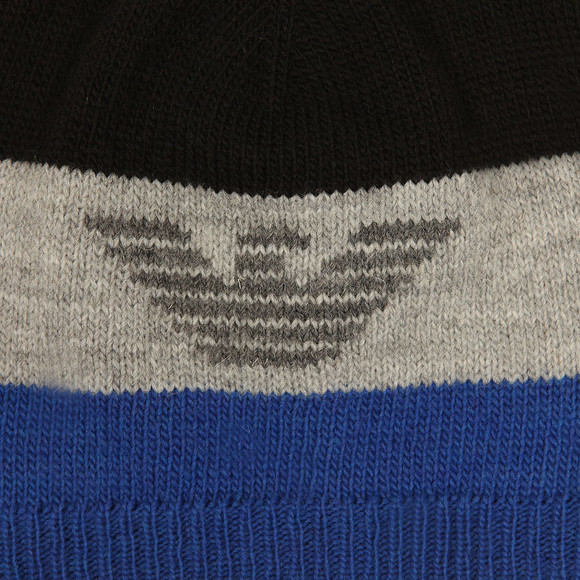 Armani Junior  Boys Black Knitted Logo Hat