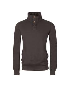 Superdry Mens Blue Academy L/S Henley Sweatshirt