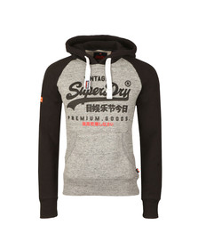 Superdry Mens Grey Premium Goods Raglan Hood