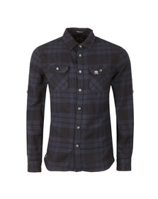 Superdry Mens Blue Lumberjack L/S Shirt