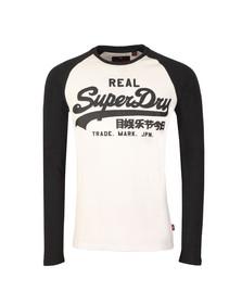 Superdry Mens White Vintage Logo Raglan L/S Tee