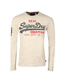 Superdry Mens Grey Vintage Logo Duo LS Tee