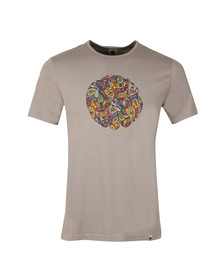 Pretty Green Mens Grey Pretty Green Paisley Logo Tee