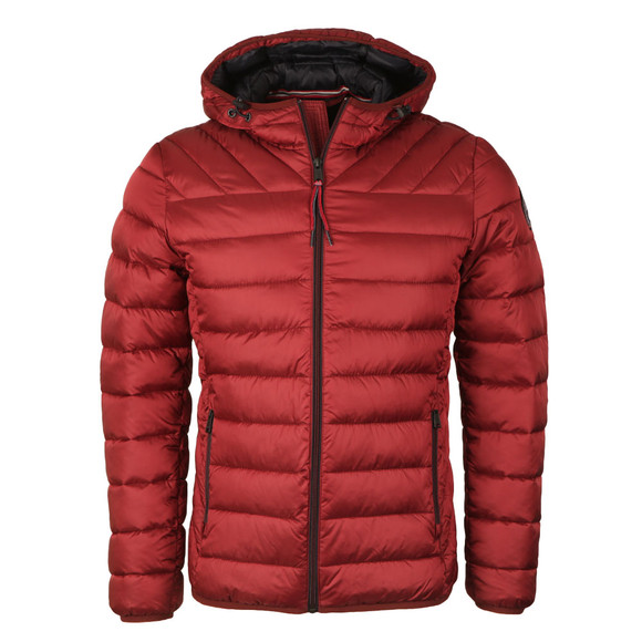 Napapijri Mens Red Aerons Hooded Jacket main image