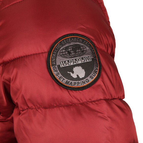 Napapijri Mens Red Aerons Hooded Jacket main image