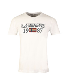Napapijri Mens White Solin SS Tee