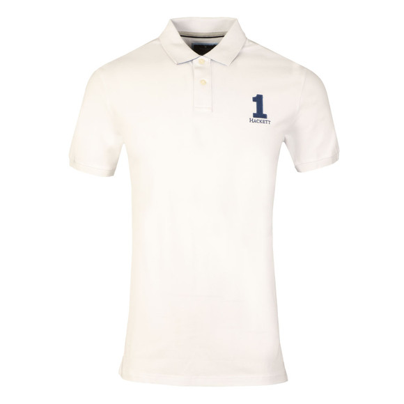 Hackett Mens White New Classic Polo Shirt main image