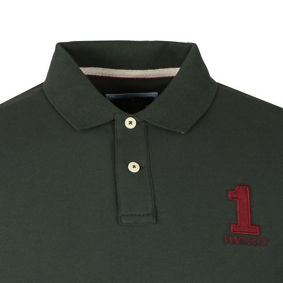 Hackett Mens Green New Classic Plain Polo Shirt main image