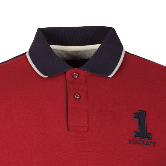 Hackett Mens Red NBR Contrast Back Polo main image