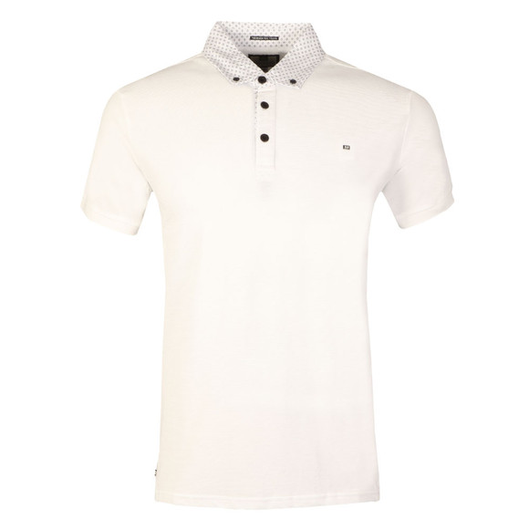 Weekend Offender Mens White Pearce Polo Shirt main image