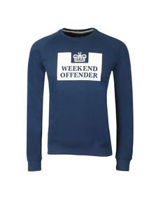 Weekend Offender Mens Blue Penitentiary Classic Crew Sweatshirt