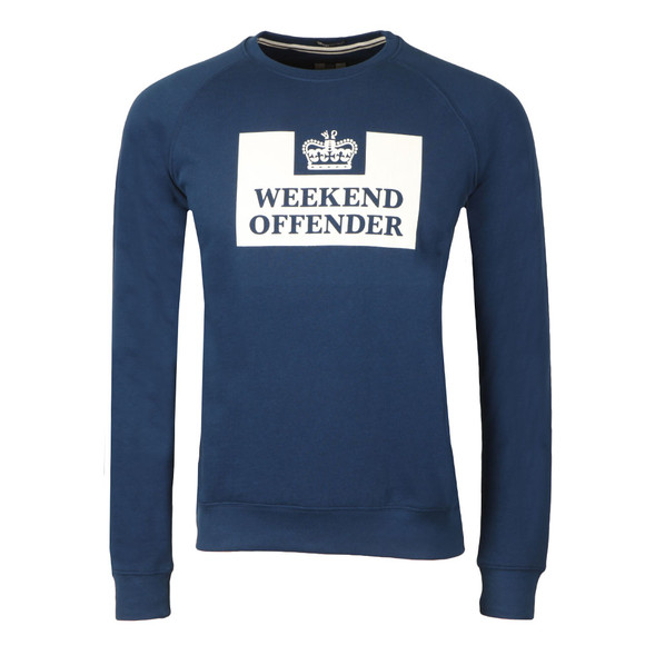 Weekend Offender Mens Blue Penitentiary Classic Crew Sweatshirt main image