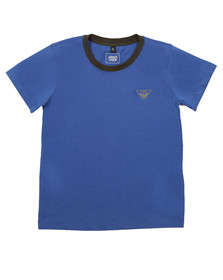 Armani Junior  Boys Blue 6Y4T11 Ringer T Shirt