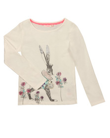 Billieblush Girls Off-white U15447 T Shirt