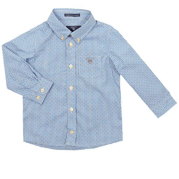 Gant Boys Blue The Broadcloth Gingham Shirt main image