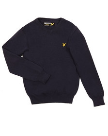 Lyle And Scott Junior Boys Blue Classic V Neck Jumper