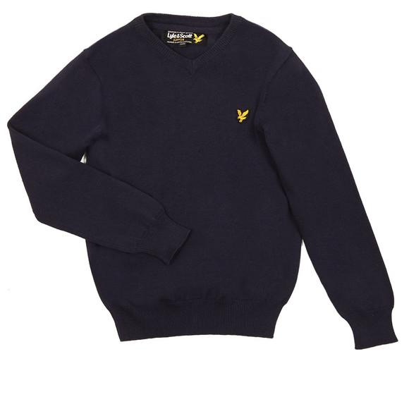 Lyle And Scott Junior Boys Blue Classic V Neck Jumper main image