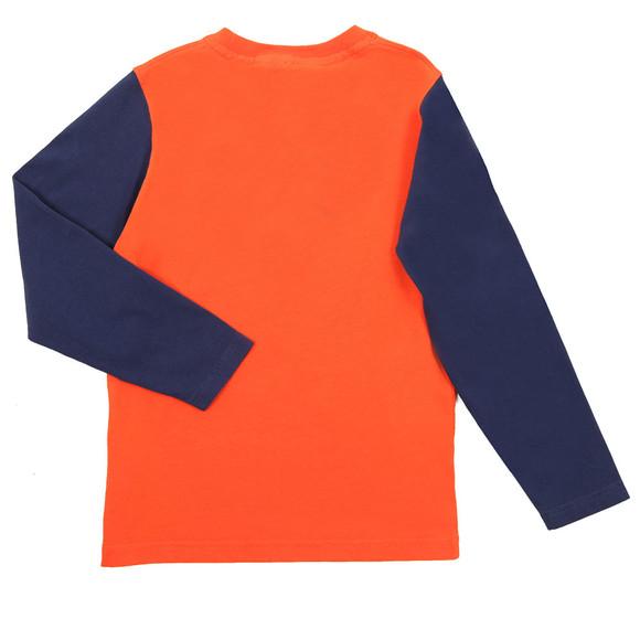 Hackett Boys Orange AMR Long Sleeve T Shirt main image