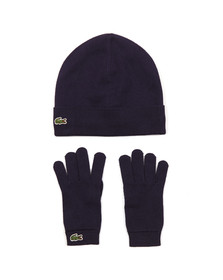 Lacoste Boys Blue Hat & Gloves Set