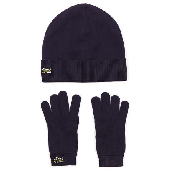Lacoste Boys Blue Hat & Gloves Set main image