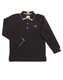 Armani Junior  Boys Blue Long Sleeve Tipped Polo Shirt