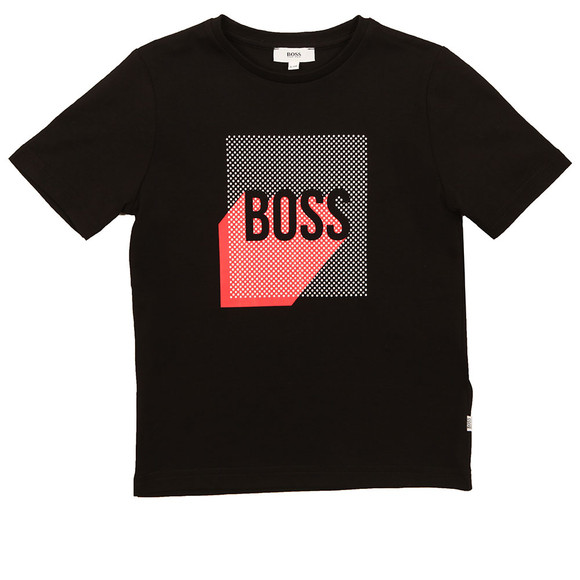 Boss Boys Black Graphic T Shirt main image
