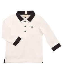 Armani Baby Boys White 6YHF01 LS Polo Shirt