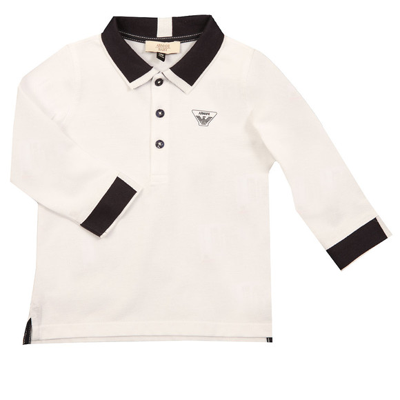 Armani Baby Boys White 6YHF01 LS Polo Shirt main image