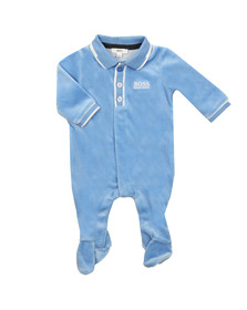Boss Boys Blue Small Logo Babygrow