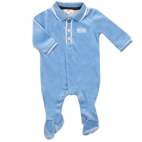 BOSS Bodywear Boys Blue Small Logo Babygrow main image
