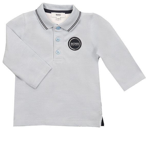 Boss Boys Blue Long Sleeve Polo Shirt main image