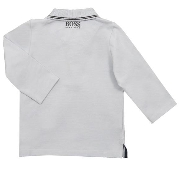 BOSS Bodywear Boys Blue Long Sleeve Polo Shirt main image