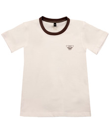 Armani Junior  Boys White 6Y4T11 Ringer T Shirt