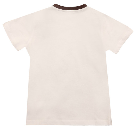 Armani Junior  Boys White 6Y4T11 Ringer T Shirt main image