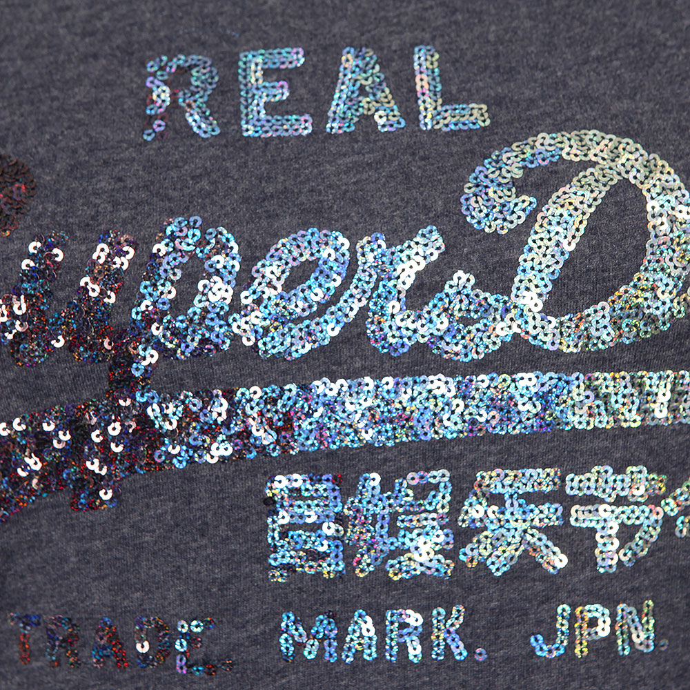 Vintage Logo Sequin Entry Tee main image