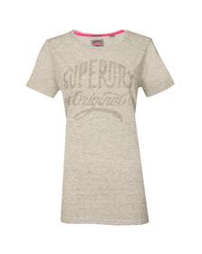 Superdry Womens Grey MFG Gel Long Line T Shirt