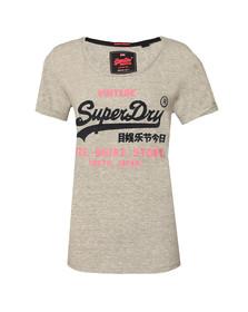 Superdry Womens Grey Shirt Shop New Slim BF T-Shirt