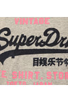 Superdry Womens Grey Shirt Shop New Slim BF T-Shirt