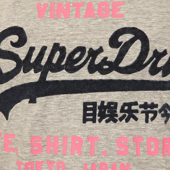 Superdry Womens Grey Shirt Shop New Slim BF T-Shirt main image