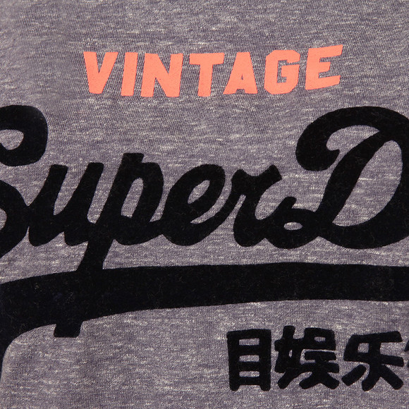 Superdry Womens Blue Shirt Shop New Slim BF T-Shirt main image