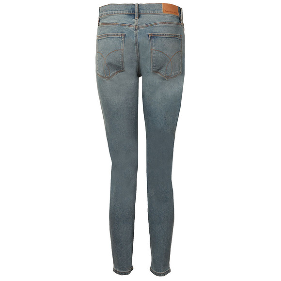 Calvin Klein Jeans Womens Blue High Rise Skinny Ankle Jean main image