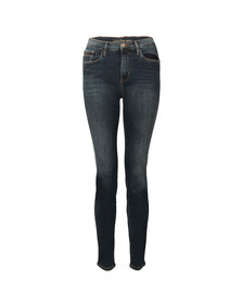Calvin Klein Jeans Womens Blue High Rise Skinny Ankle Jean