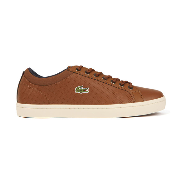 Lacoste Mens Brown Straightset SP 317 Trainer main image